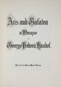 Acis and Galatea a Masque. [Full score]