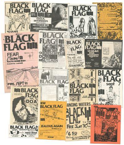 California, 1982. Unbound. Near Fine. Sixteen original flyers for the American punk rock band Black ...