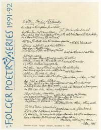 [Flyer or broadside]: Visiting Emily Dickinson