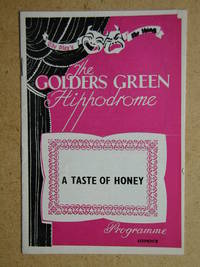 A Taste of Honey By Shelagh Delaney. Theatre Programme.