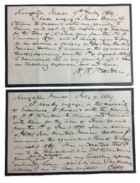 Two Holograph Documents Regarding Employment of a Governess to Accompany the Warden Family to China in 1869
