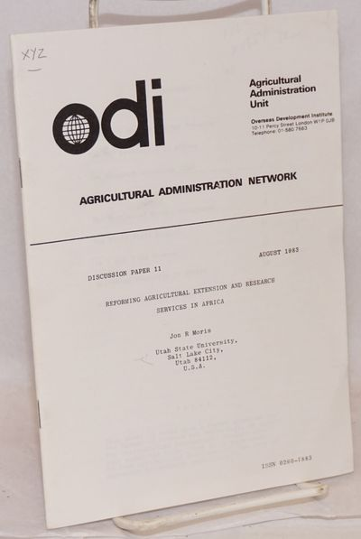 London: Overseas Development Inst. Agricultural Administration Network, 1983. 30p., 6x8.25 inches, v...