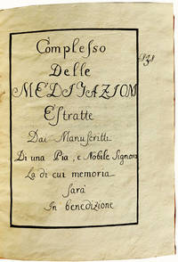 Early Italian Meditation Manuscript in Original Binding Compiled by a Woman of Nobility.