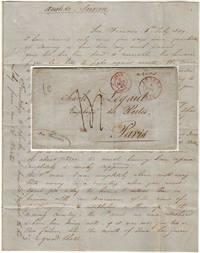 Letter from a French ship captain to his lover in Paris explaining that he had chartered his ship for the China trade and established himself as a merchant in Stockton during the first few months of the California Gold Rush