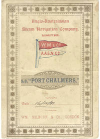 Anglo-Australasian Steam Navigation Company, Limited, S.S. Port Chalmers, Wm. Milburn & Co. (London)