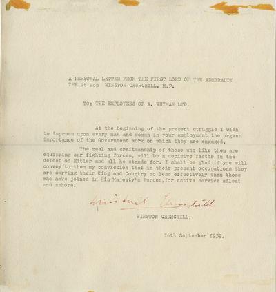 16/09/1939. Winston Churchill