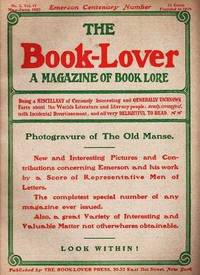 THE BOOK-LOVER:  A Magazine of Book Lore,  Vol. IV, No. 2,  May-June, 1903 -- EMERSON CENTENARY issue