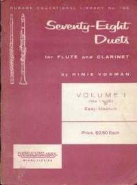 Seventy-eight Duets. For flute and clarinet - Volume 1