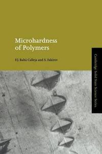 Microhardness of Polymers (Cambridge Solid State Science Series)