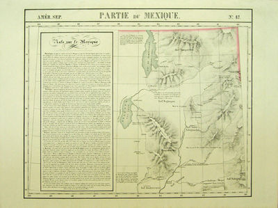 : , 1827. First edition. A very good sharp copy.. 1 sheet. Hand-colored lithographic map. 47 x 57 cm...