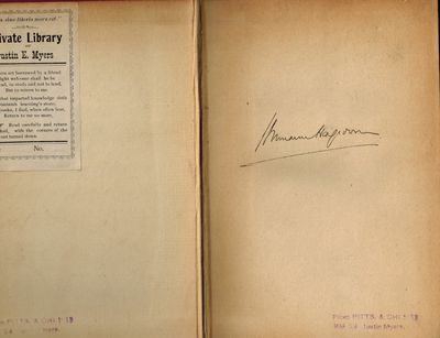 Boston and New York: Houghton Mifflin, 1921. SIGNED BY AUTHOR on front end page, and SCARCE THUS. Ve...