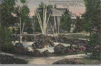 """New Hospital, Soldiers Home, Sandusky Ohio"" View on 1909 Colorized Postcard"