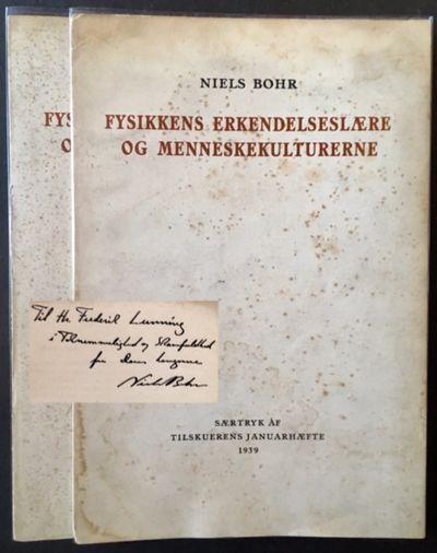 Saertryk AF: Tilskuerens Januarhaefte, 1939. Original wraps. Very Good. A remarkable Association cop...