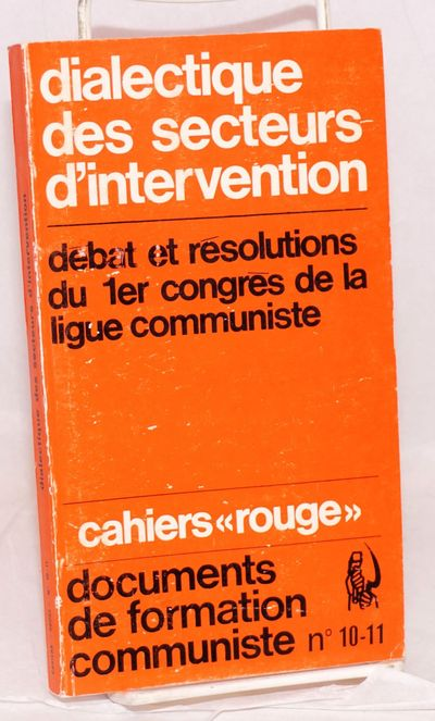 Paris: François Maspero, 1969. 175p., paperback, covers lightly worn. Text in French. Cahiers