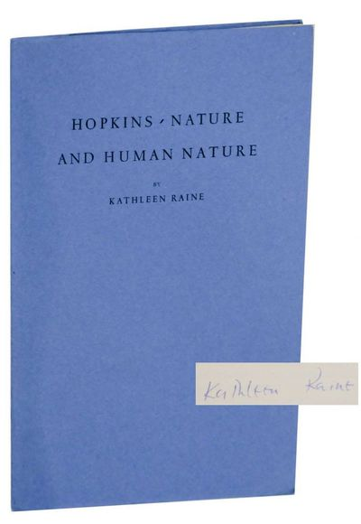 London: University College / University of London / Hopkins Society, 1972. First edition. Softcover....