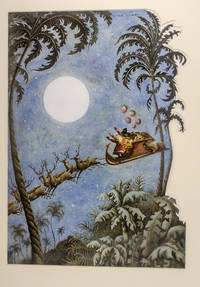 """An original watercolor painting from """"Christmas 1993 or Santa's Last Ride."""""""