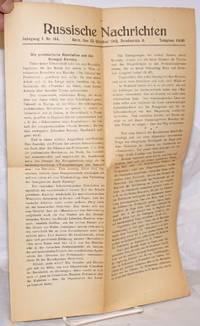 image of Russische Nachrichten. Jahrgang I. Nr. 144. Bern, den 23. Oktober 1918. Bundesrain 8. Telephon 64.90
