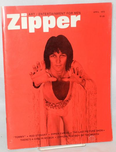 Hollywood: Zipper, 1972. Magazine. 80p., 8.5x11 inches, b&w photos, some nude including centerfold p...
