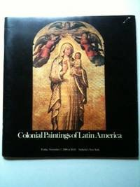 Colonial Paintings of Latin America   Sale Number 4463M   Friday, November 7, 1980 at 10:15  Sotheby's New York