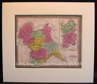 Kingdom of Sardinia with inset map of Island of Sardinia.