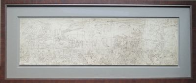 (boldly signed at the lower right margin by Rivera) San Francisco: 1940. Print is large, approx. 26 ...
