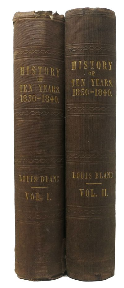 London: Chapman and Hall, 186, Srand, 1845. 1st Edition in English. Original publisher's brown cloth...