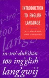 Introduction to English Language (Studies in English Language)