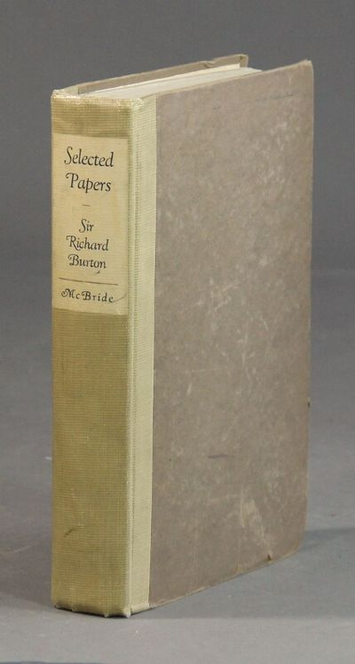 New York: Robert M. McBride and Co, 1924. First edition, American issue of the British sheets; 8vo, ...