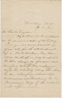 """Letter proposing the establishment of a """"Pant Factory"""" in Hattiesburg, Mississippi"""
