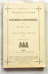 A Grammar and Vocabulary of the Language of the Aborigines of the MacDonnell Ranges contained in the Transactions of the Royal Society of South Australia Volume XIV Part 1