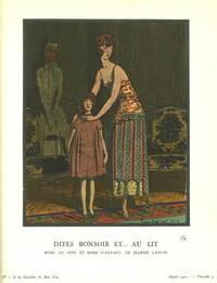 Dites Bonsoir Et...Au Lit: Robe du Soir Et Robe D'Enfant, De Jeanne Lanvin Print from the Gazette du Bon Ton