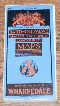 """Wharfedale - Bartholomew's Revised """"Half-Inch"""" Contoured Maps of Great Britain, Sheet 32"""