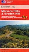 image of Malvern Hills and Bredon Hill: Tewkwsbury (Explorer Maps)