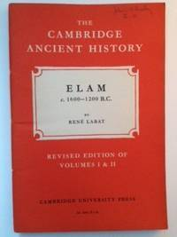 Elam c. 1600-1200 B.C.  Volume II, Chapter XXIX