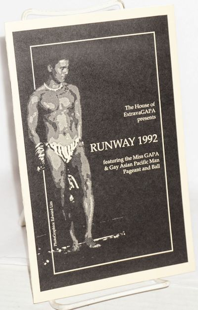 San Francisco: GAPA, 1992. 5.5x8.5 inches, program booklet featuring short bios of those involved, p...