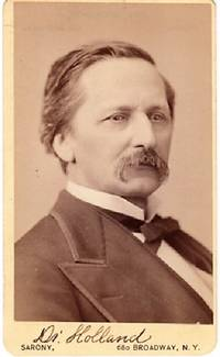 CARTE DE VISITE OF AMERICAN PHYSICIAN & WRITER DR. J.G. HOLLAND, PHOTOGRAPHED BY NAPOLEON SARONY