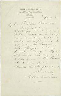AUTOGRAPH LETTER SIGNED TO PRESIDENT FRANKLIN DELANO ROOSEVELT REGARDING HIS BID FOR THE GOVERNORSHIP OF CALIFORNIA