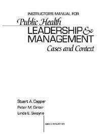 image of Public Health Leadership and Management : Cases and Context