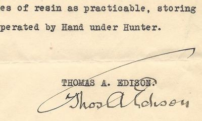 20/01/1927. Thomas Edison Thomas Edison and Electricity are almost synonymous. Edison invented many ...