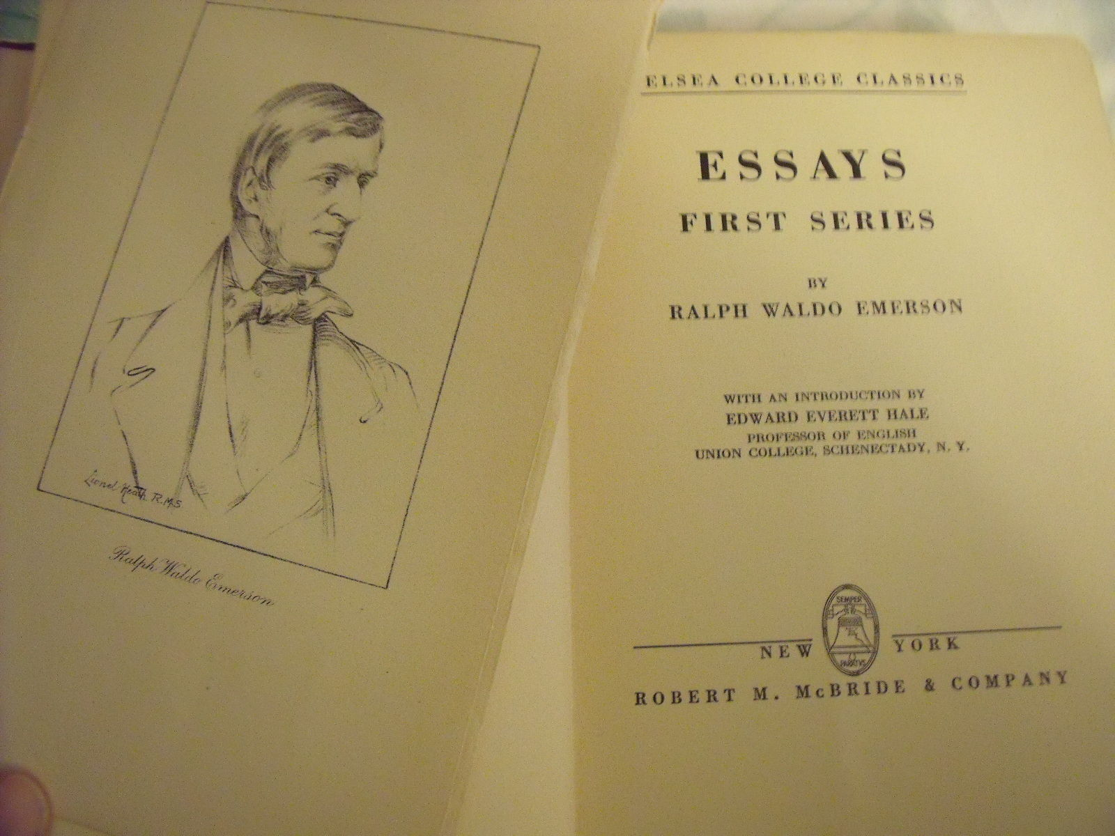 emerson essays rare books The essay on self - reliance by ralph waldo emerson and a great selection of  similar  from: goldstone rare books (llandybie, carms, united kingdom.