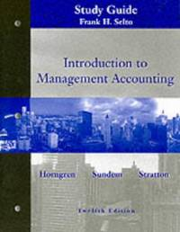 image of Introduction to Management Accounting: Study Guide