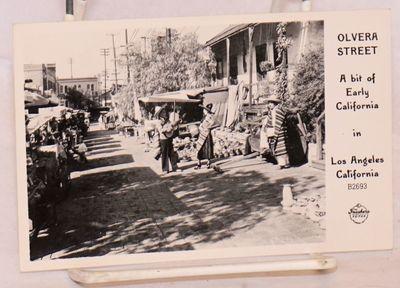 Pomona, CA: Frashers Fotos, 1940. 5.5x3.5 inch landscape layout postcard with b&w photo of Olvera St...