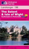 image of The Solent and the Isle of Wight, Southampton and Portsmouth (Landranger Maps)