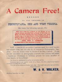 1898 Ray Camera Promotional Flyer for Wholesale Orders from Grocers for Soap Powder