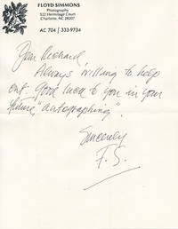 image of Autograph Note Signed