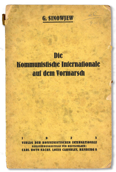 Hamburg: Verlag der Kommunistischen Internationale. Auslieferungsstelle für Deutschland: Carl Hoym ...