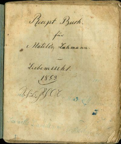 Recept Buch für Matilde Lehmann in...