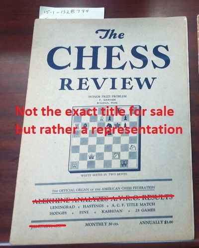 New York: Chess Review, 1938. Saddle-stitched. Octavo; Poor; Paperback; Spine, staple binding; Cover...