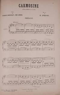 Carmosine Opéra-Comique [Piano-vocal score] en 3 Actes Poëme de Charles Monselet et Eug. Adenis