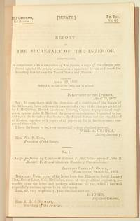 Report of the Secretary of the Interior, communicating... a copy of the charges preferred against the present commissioner appointed to run and mark the boundary line between the United States and Mexico.